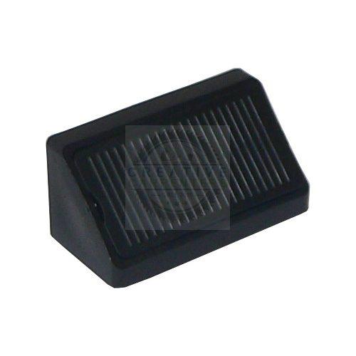 Összekötő szögletvas műanyag dupla 42mm fekete