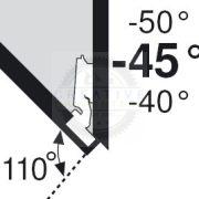 BLUM 79A5450.T szögben álló pánt típus III csavar -45/110°