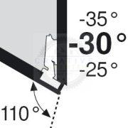 BLUM 79A5451.T szögben álló pánt típus III csavar -30/110°