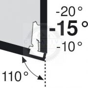 BLUM 79A5453.T szögben álló pánt típus III csavar -15/110°