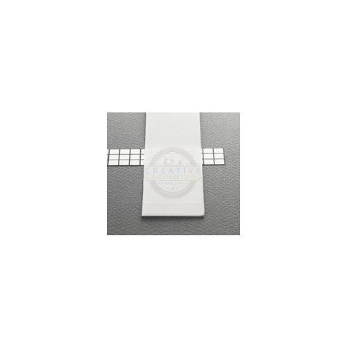 TM-takaró profil Wide profilhoz rápattintható/befűzős tejfehér 1000mm