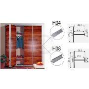 SEVROLL összekötő profil H04 3m ezüst