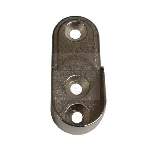 Ruharúd tartó ovális RT03 átmérő 15mm króm