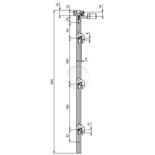 LEHMANN Rúd SVS3 típus 2 (1+3 magasság 515 mm)