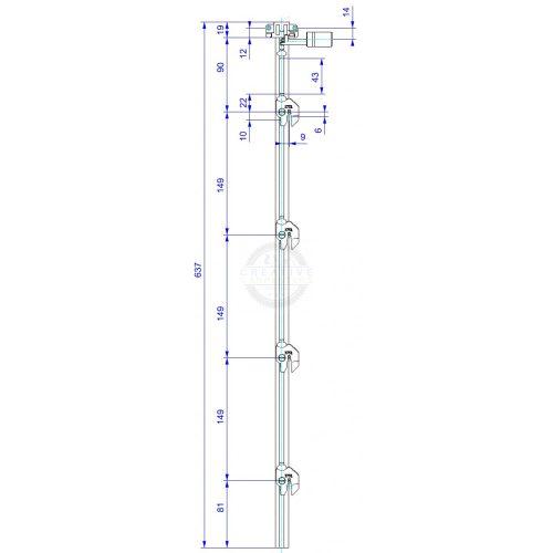 LEHMANN Rúd SVS 3 típus 9 (1+4 hossz.639mm)