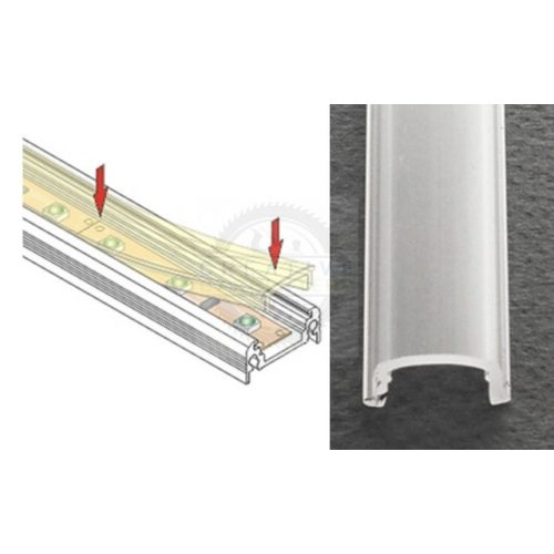 TM-takaró profil Mikro-line profilhoz befűzős transzparens 1000mm