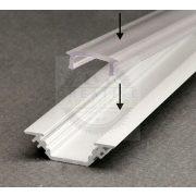 TM-takaró profil LED profilokhoz rápattintható transzparens 2000mm