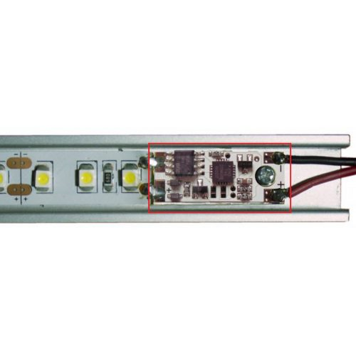 LED kapcsoló/fényerő szabályozó profilba 12/24V sárga LED kijelző