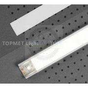 TM-takaró profil Slim/Smart profilhoz rápattintható/befűzős tejfehér 2000mm