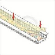 TM-takaró profil LED profilokhoz rápattintható tejfehér szín 1000mm