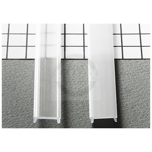 TM-takaró profil LED profilokhoz rápattintható tejfehér szín 2000mm