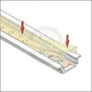 TM-takaró profil LED profilokhoz rápattintható tejfehér szín 3000mm