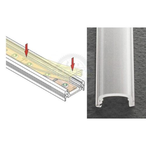 TM-takaró profil LED profilokhoz rápattintható transzparens 3000mm