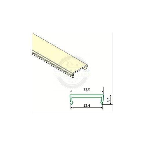 TM-takaró profil LED profilokhoz rápattintható transzparens 4000mm