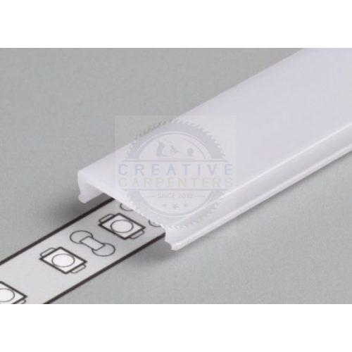 TM-takaró profil LED profilokhoz rápattintható tejfehér szín 4000mm