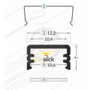 TM-profil LED Slim alu elox 3000mm