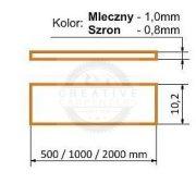 TM-takaró profil Smart/Slim profilhoz befűzős transzparens 3000mm