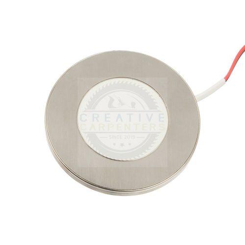 LED spotlámpa BAILEN 12V 3W acél csiszolt meleg fehér