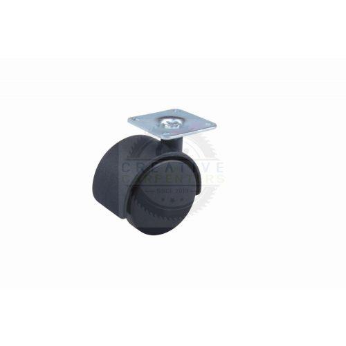 Kerék 50 mm lemez fekete