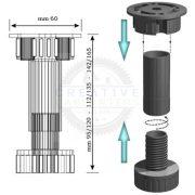 MX-állítható láb 150 mm