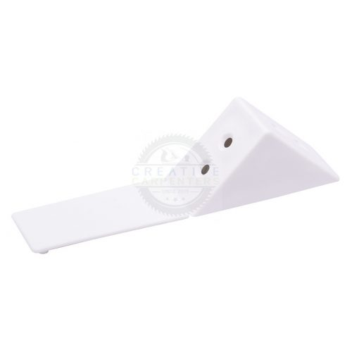 Összekötő szögletvas műanyag nagy fehér