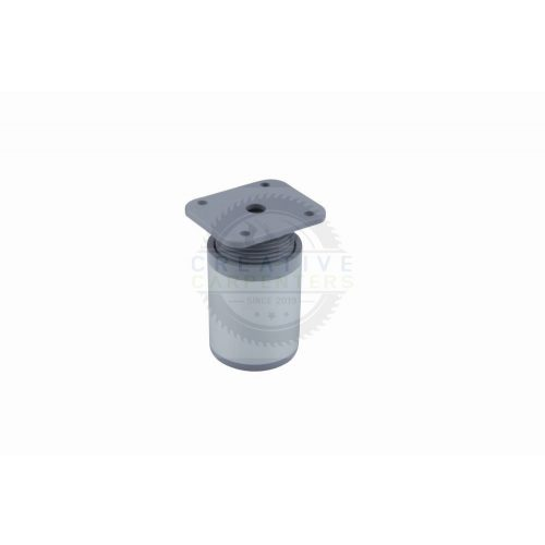 Bútorláb gömbölyű 40mm 150mm alumínium elox